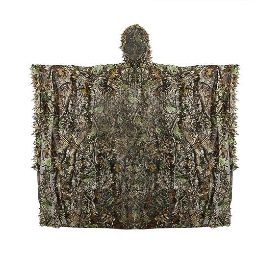 4 opinioni per Ghillie Poncho Caccia Camo Mimetico 3D Foreste Delle Foglie