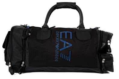 9810914ef484 Image Unavailable. Image not available for. Colour  Emporio Armani EA7 men s  fitness gym sports shoulder bag black