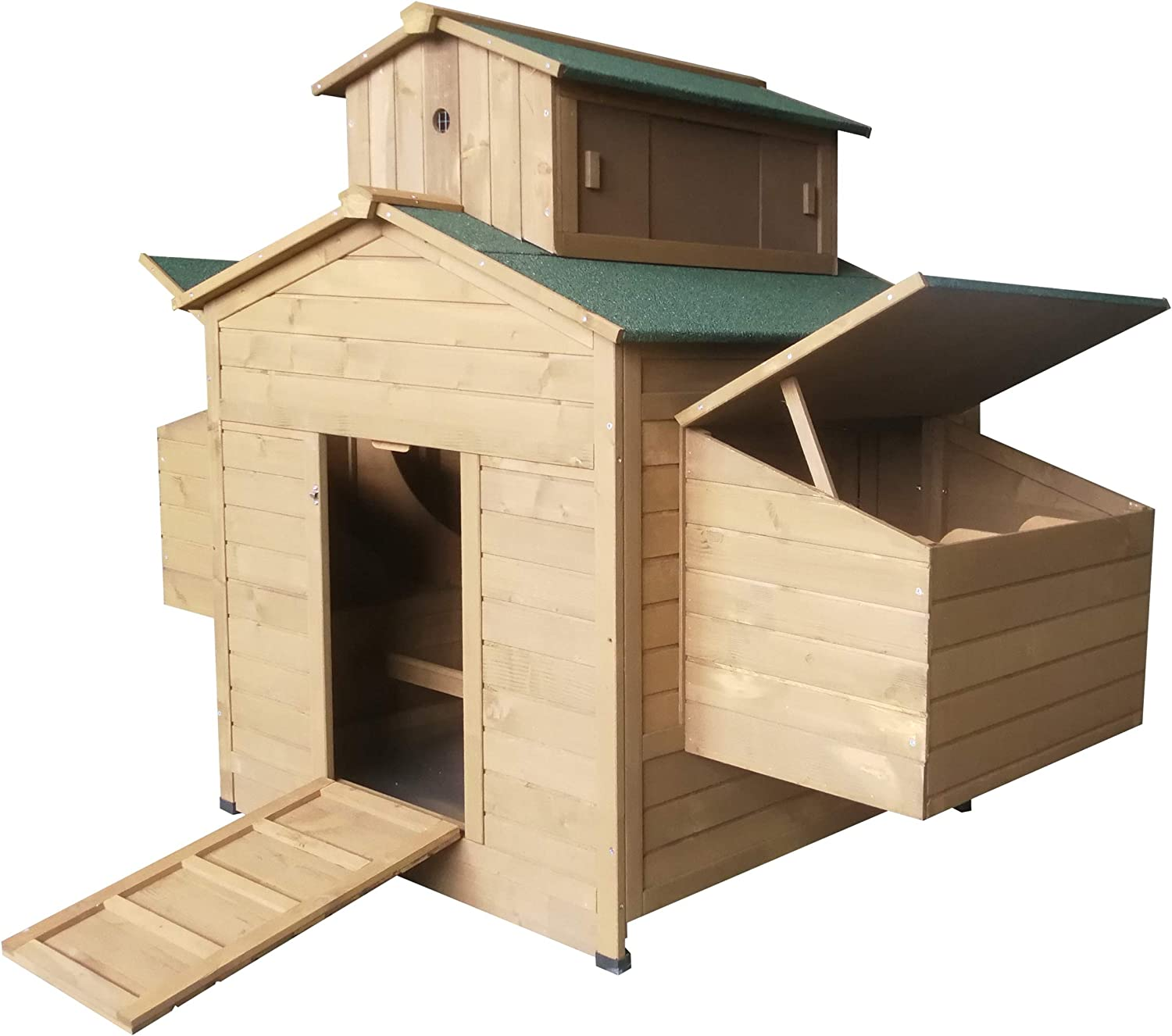 Omitree Deluxe Large Backyard Wood Chicken Coop Hen House 6-10 Chickens with 6 Nesting Box