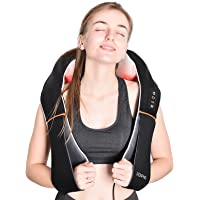 Renpho Electric Shiatsu Neck and Back Massager with Heat, Gifts for Men Women, 3D Kneading Massage Pillow for Pain…