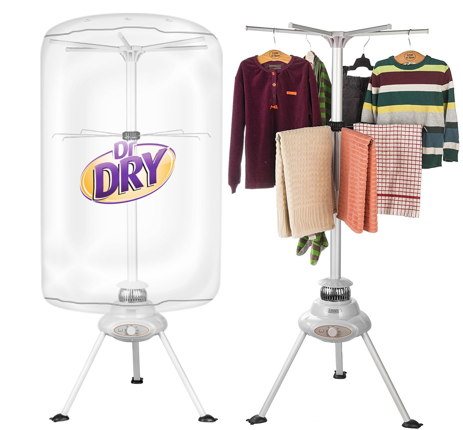 Dr. Dry Portable Clothing Dryer 1000W Heater DD-522