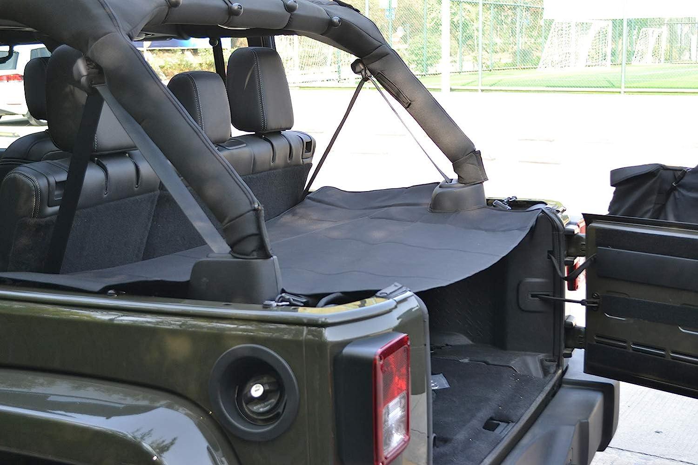 bestaoo Jeep Wrangler Rear Trunk Shade Cargo Cover Shield for JK JKU Sports Sahara Freedom Rubicon Unlimited 2007-2017, Black