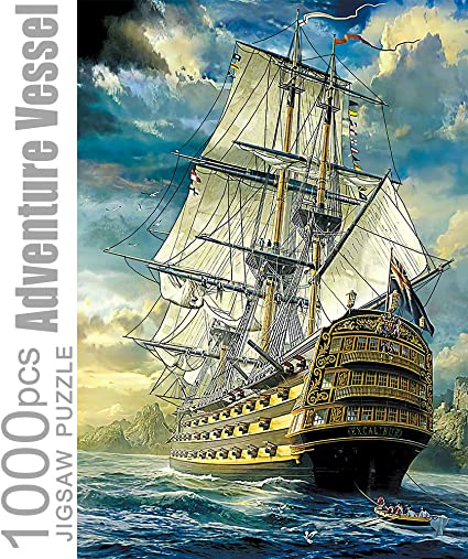 Jigsaw Puzzles 1000 Pieces for Adults Adventure Vessel Educational Fun Game Intellectual Decompressing Interesting Puzzle