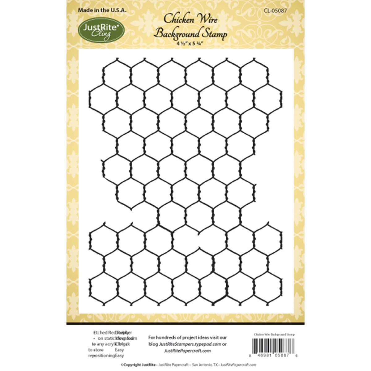 Buy NEW! JustRite Pepercraft Background Cling Stamps 4.5\
