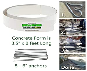 Stepping Stone Walk Maker Mold Concrete Form Reusable for Garden, Court Yards, Patios and Walks