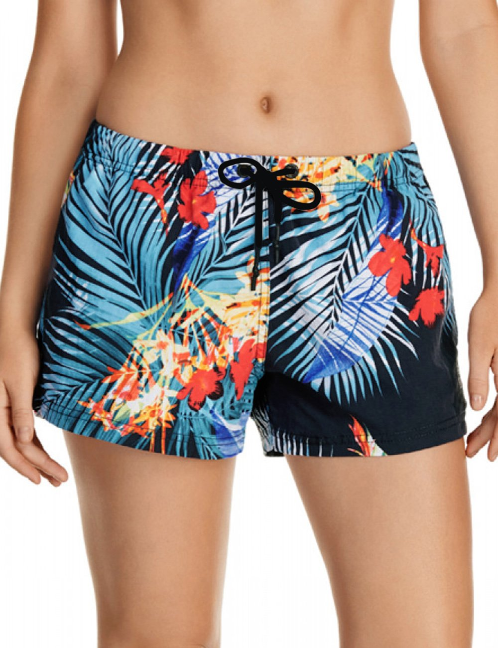 Utyful Women's Casual Quick Dry Drawstring Printed Swimsuit Beach Board Shorts Size Large (Fit US 12 - US 14)