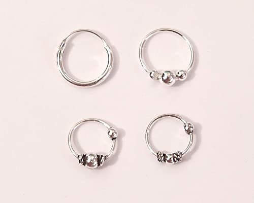 Sterling Silver Bali Style Nose Ring
