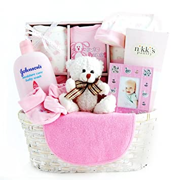Amazon.com : New Arrival Baby Gift Basket for Girls : Baby