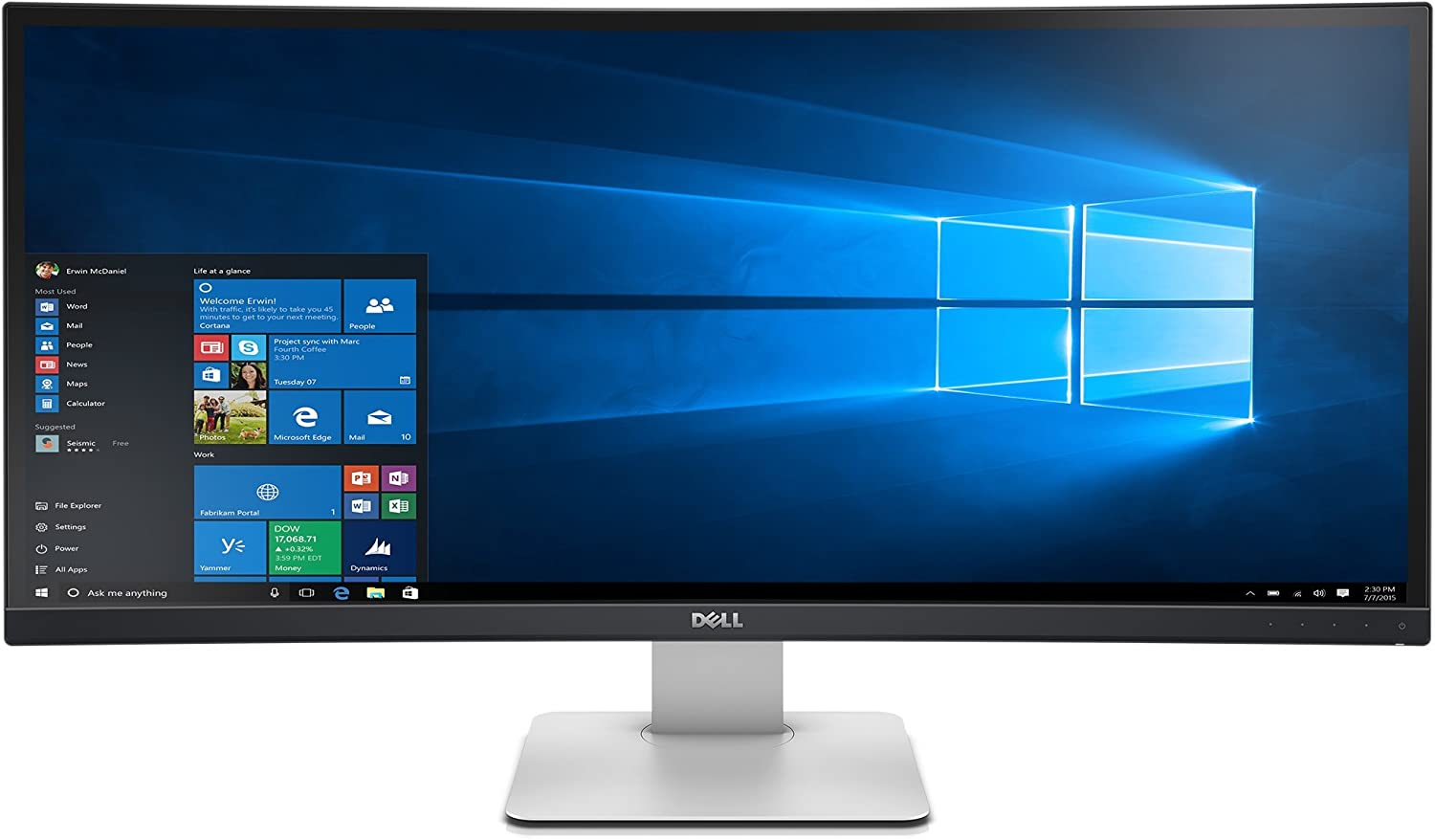 Dell UltraSharp U3415W 34-Inch Curved LED-Lit Monitor (Renewed)