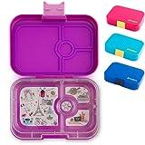 Yumbox Panino M Lunchbox - (Bijoux Purple, 4 Fächer) - Brotdose mit Unterteilung | Bentobox mit Trennwand Einsatz für Schule und Kita Kinder, Picknick, Arbeit sowie Uni