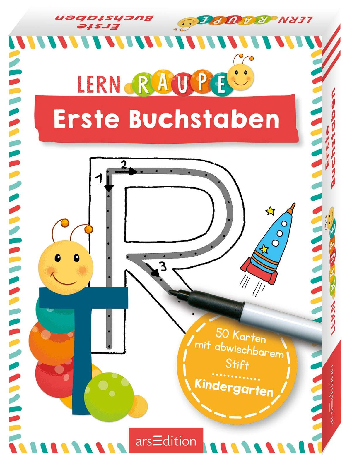 Lernraupe   Erste Buchstaben