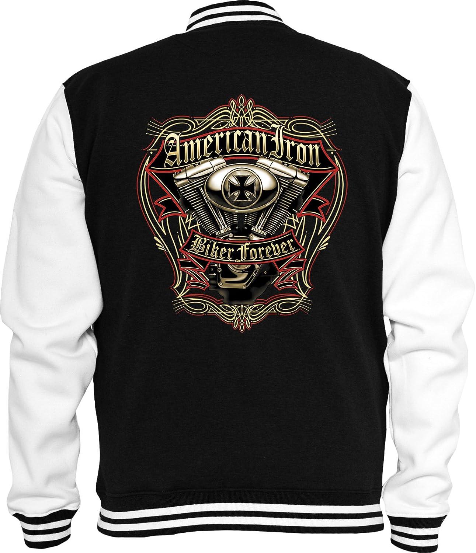 Biker Sweat College jacket American Iron Chopper USA Route66