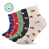 5 Pairs Women Winter Knitting Thicken Warm Cotton Socks Thermal Socks Assorted Patterns UK 4-6.5 EU 35-39