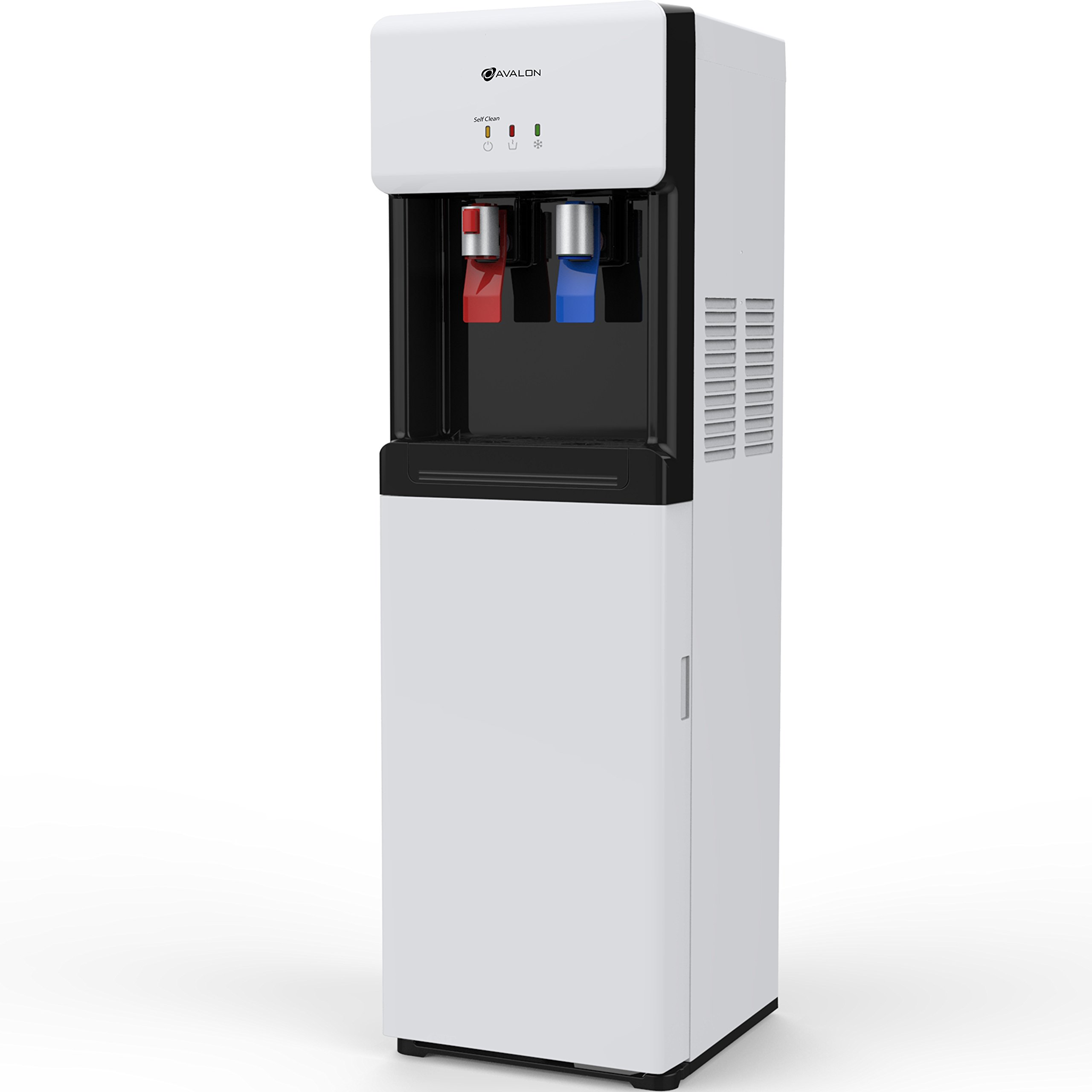 Avalon Self Cleaning Bottom Loading Water Cooler Dispenser - Hot & Cold Water, Child Safety Lock, Innovative Slim Design, Holds 3 or 5 Gallon Bottles - UL/Energy Star Approved