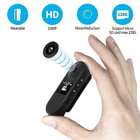 C-Xka Cámara portátil con cámara espía Oculta 1080P WiFi Mini cámara Cámaras de Seguridad