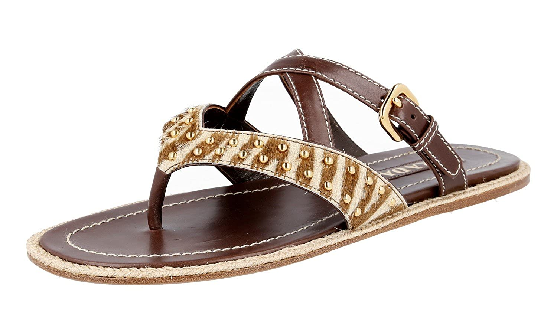 - Prada Women's 1Y180D Leather Sandals