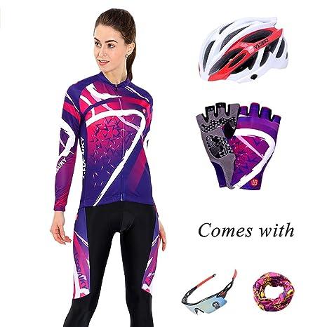Beydodo Ropa de Bicicleta de Mujer Traje de Montar Moto ...