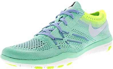 huge discount e999f 6c439 Nike Women s Free Tr Focus Flyknit Green Glow Glacier Blue-Volt Ankle-High