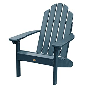 Highwood AD-CLAS1-NBE Classic Westport Adirondack Chair, 29.75W x 34.5D x 39.5H in. in, Nantucket Blue