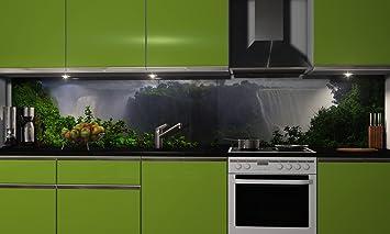 Küchenrückwand-Folie selbstklebend   Wasserfall   Klebefolie in ...