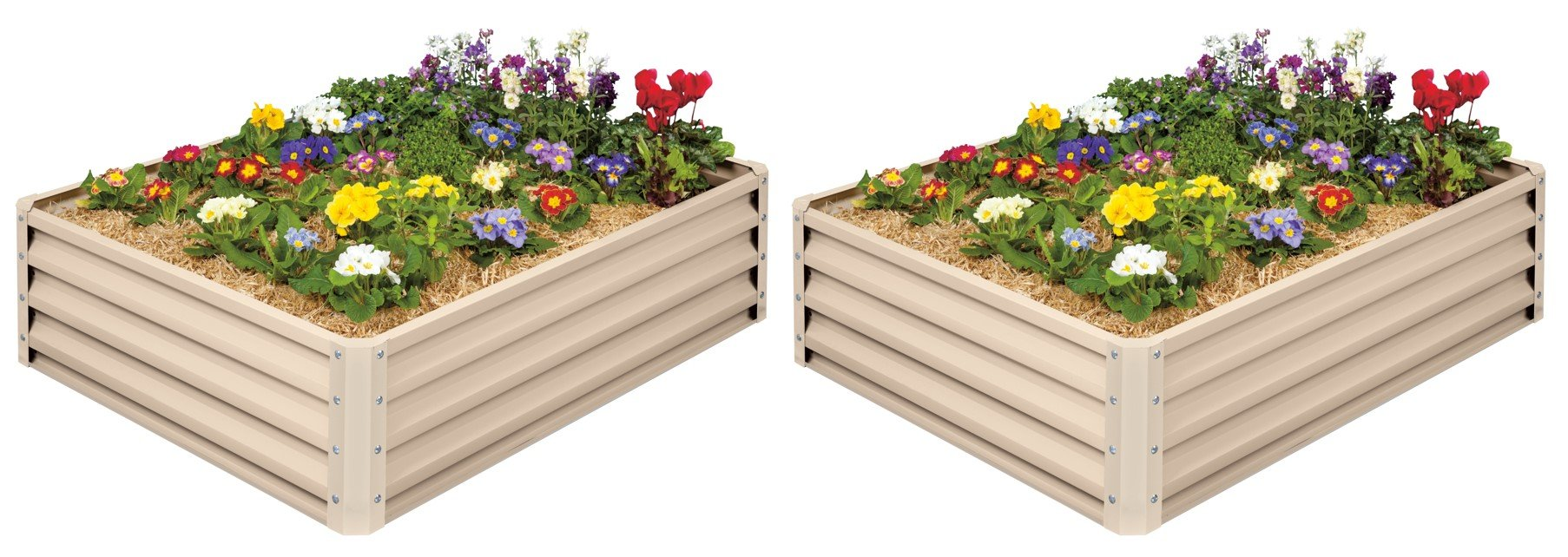 Metal Raised Garden Bed Kit - Elevated Planter Box For Growing Herbs, Vegetables, Flowers, and Succulents (2)