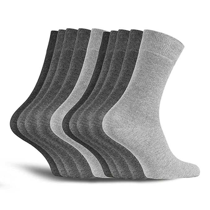 10 pares de calcetines para hombre - calidad de marca - hechos de algodón de alta