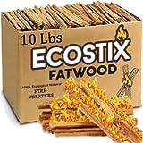 EasyGoProducts Approx. 120 Eco-Stix Fatwood Starter Kindling Firewood Sticks Wood Stoves Camping Firestarter Fire Pit…