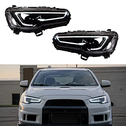 amazon com vland led blackout headlights for 2008 2017 mitsubishi