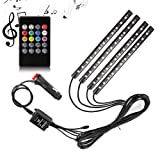 Amazon Price History for:Car LED Strip Light, SurLight 4pcs 48 LED DC 12V Multicolor Music Car Interior Light LED Under Dash Lighting Kit with Sound Active Function and Wireless Remote Control, Car Charger Included