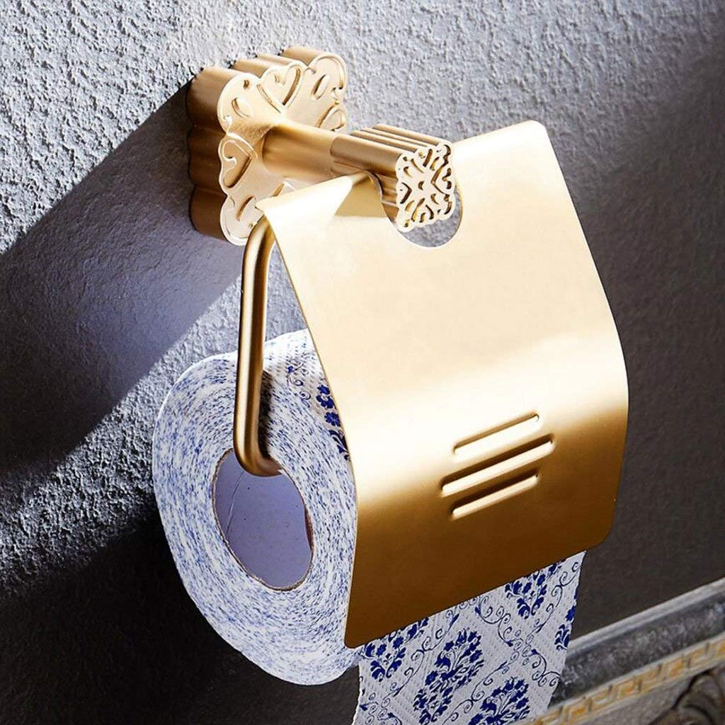 SYTDDP Simple and Stylish Bathroom Tissue Box WC Wall-Mounted Aluminum Alloy Paper Towel Holder Roll Paper Holder roll Holder Wall Mount