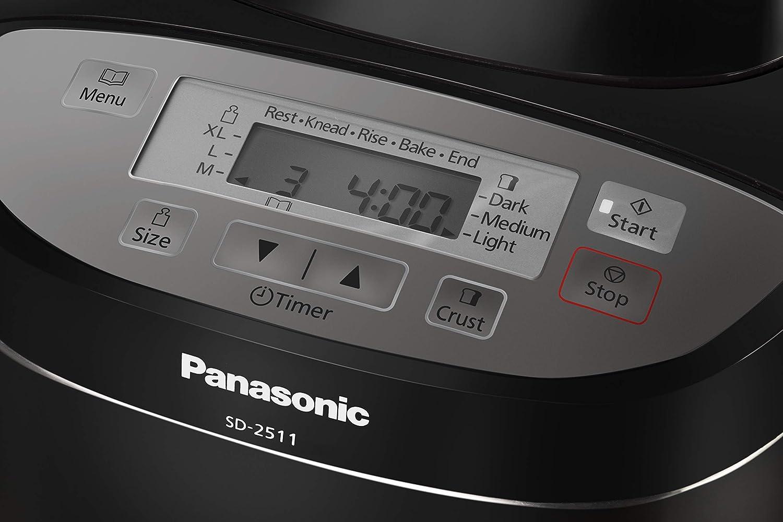 Panasonic SD-2511 - Panificadora de 550W para panes, masas ...