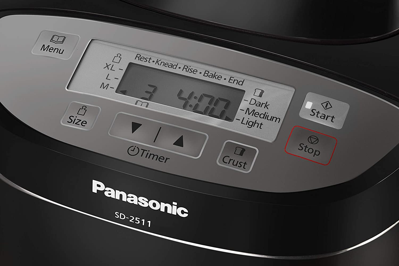 Panasonic SD-2511 - Panificadora de 550W para panes, masas, compotas y mermeladas (33 programas automáticos, dispensador inteligente, temporizador ...