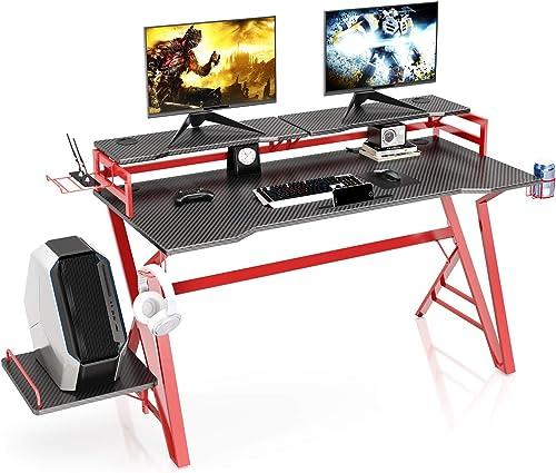 VIPEK Ergonomic Gaming Desk 55 Inch Home Office Gaming Computer Desk