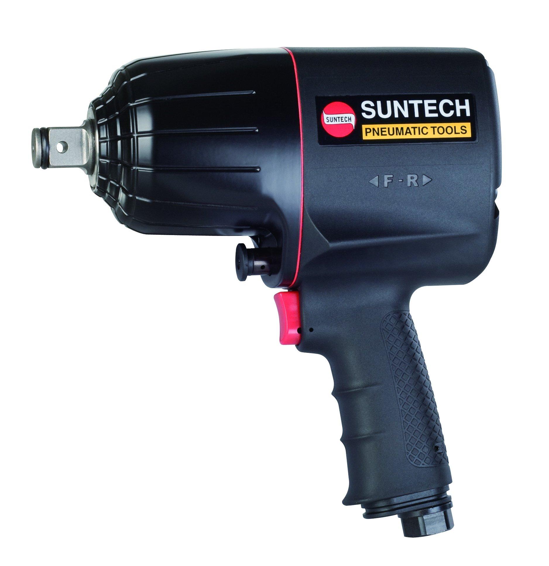 SUNTECH SM-45-4059P 3/4'' Impact Wrench, Twin Hammer, Black