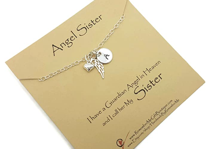 Amazon Com Memorial Jewelry Necklace For Loss Of Sister