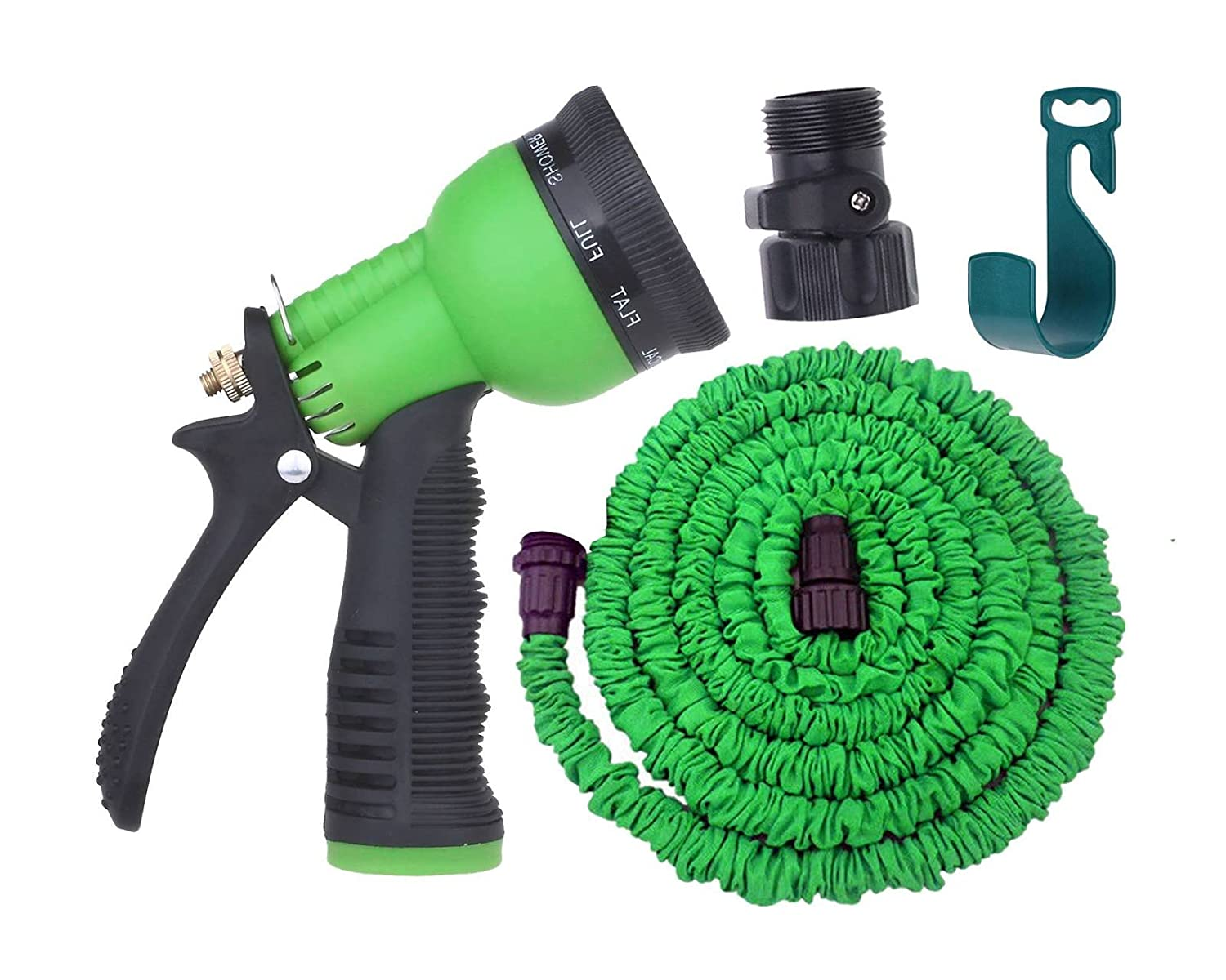 Amazoncom Expandable Garden Hose By Gardeniar 50ft Green