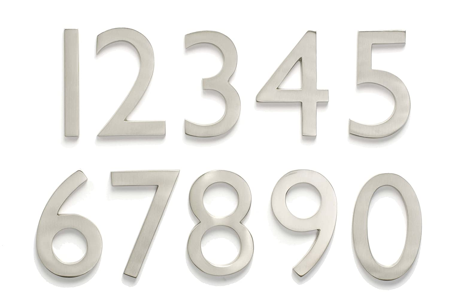 Architectural Mailboxes 3585DC-8  Brass 5-Inch Floating House Number 8 Dark Aged Copper