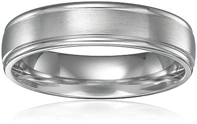 Platinum Wedding Band.Men S Platinum Comfort Fit Wedding Band With High Polish Round Edges With Satin Center 6 Mm