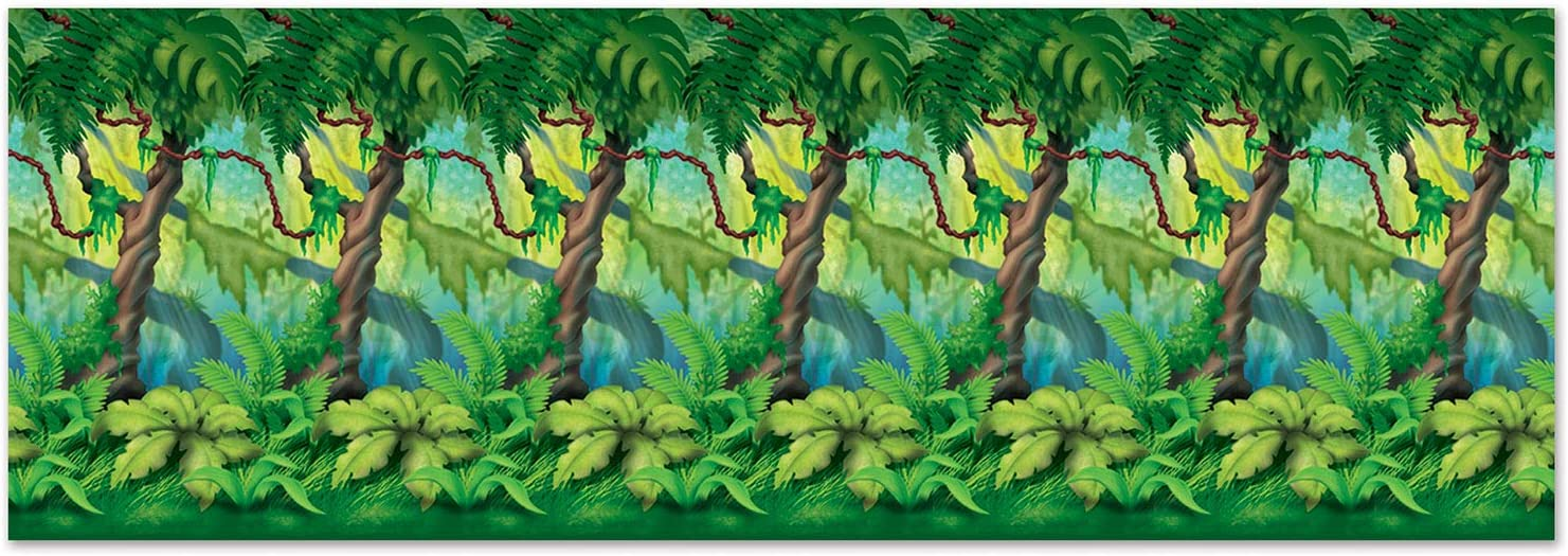 Jungle Trees Backdrop Party Accessory (1 count) (1/Pkg)