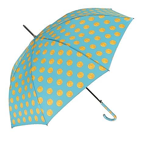 Ombrello Lungo Donna - Ombrello Classico Colorato Automatico - Con Stampa  Arance - Resistente Leggero e 8dbcd764ff5d