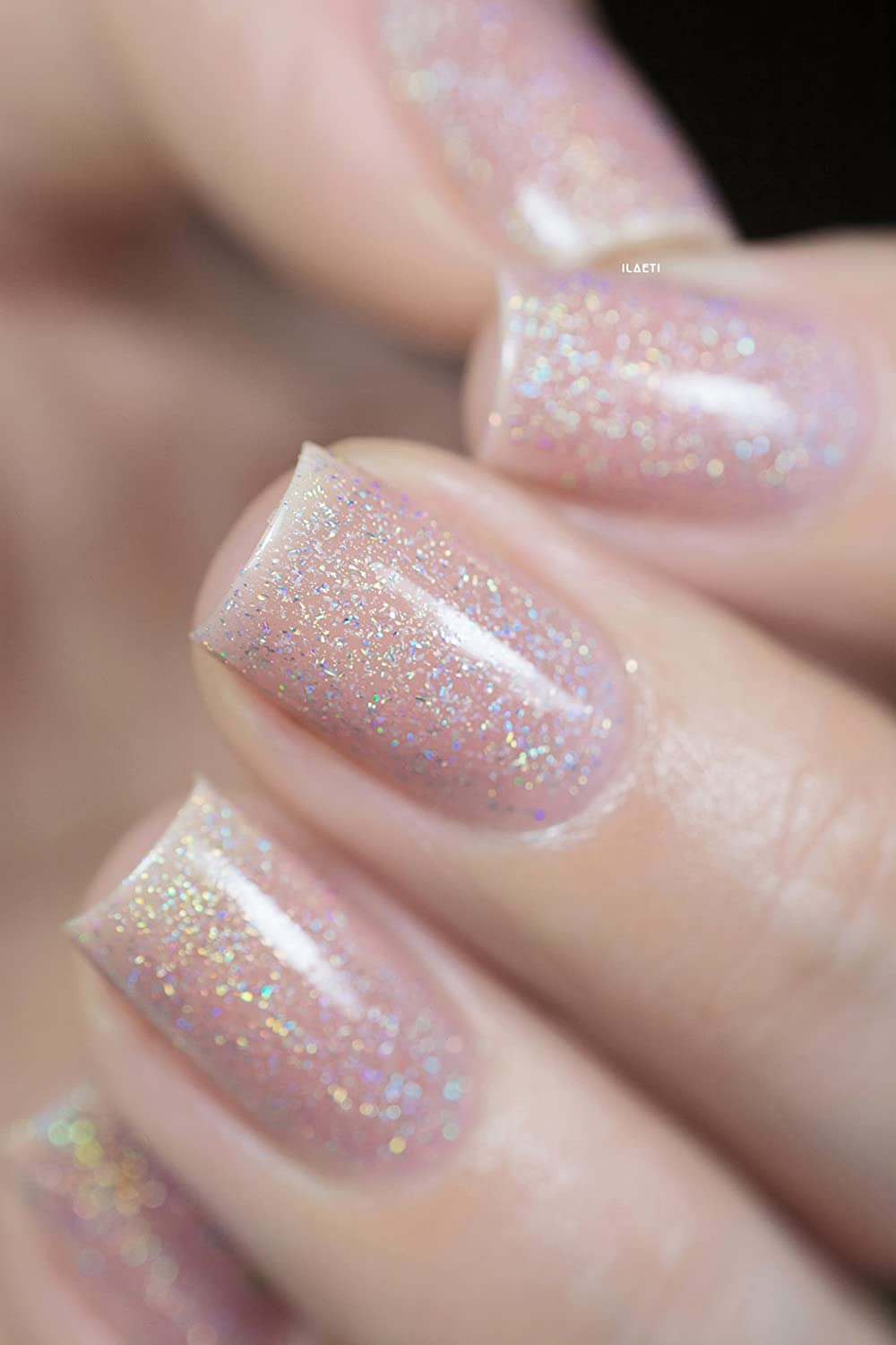 Amazon.com : ILNP Sandy Baby - Peach Beige Holographic Sheer Jelly ...