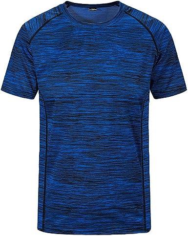 Overdose Camisas para Hombres Talla Grande Deportes Fitness Verano Cuello Redondo Suelto Holgado Mangas Cortas Gimnasio de Secado rápido Tops de Gran tamaño Suave: Amazon.es: Ropa y accesorios