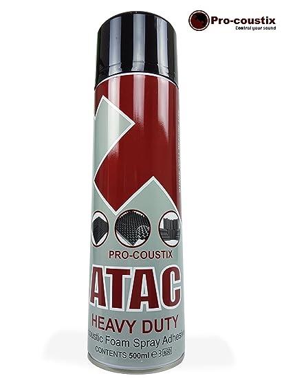 Espuma acústica ATAC de Pro-coustix, adhesiva, en aerosol