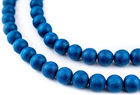10mm Round Wood Beads in Dark Brown Espresso 40 beads