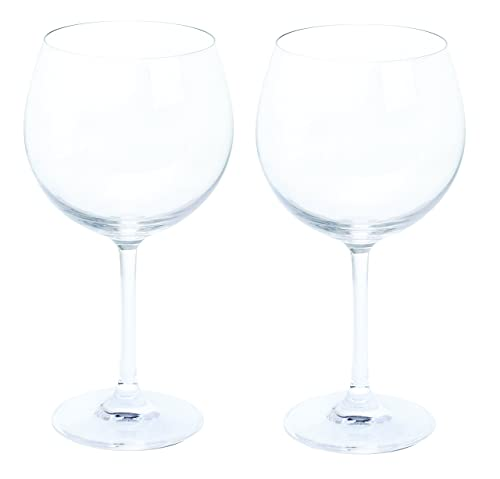 Dartington Crystal Wine and Bar/Copa Gin and Tonic, clear glasses, Pack of 2