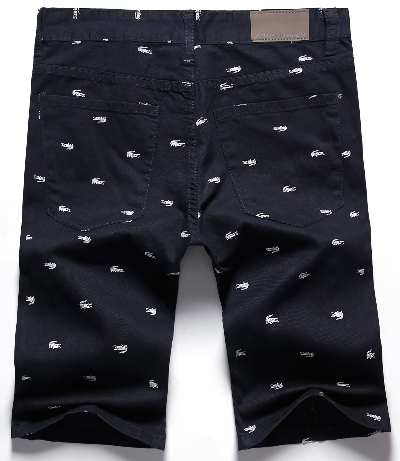 HENGAO Men's Casual Classic Fit Bermuda Chino Flat Front Shorts, Navy Blue, US 28 = Tag 29 by HENGAO (Image #2)