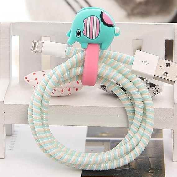 Amazon Com Tospania Diy Cartoon Style Spiral Wire Protectors Cable
