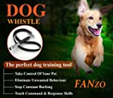 FANZO Dog Whistle, Ultrasonic Dog Training Whistles with Adjustable Frequencies, Bark Control Devices for Dogs