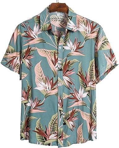 Camisa de Playa de Calidad para Hombre Camisa Hawaiana Corta ...