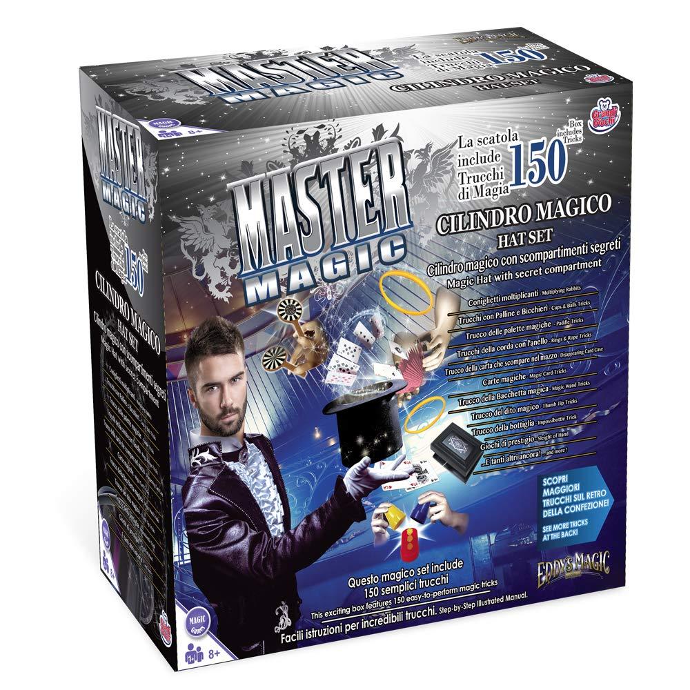 Grandi Giochi Kit Cappello Magico 150 Trucchi, Colore Multicolr, GG00295 GG-00295